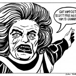 Granny Goodness - India Ink on Bristol. Inspired by Jack Kirby. $75.00 framed.