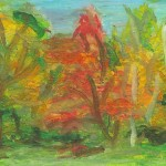Muskoka Fall - Oil Pastels. $125.00. SOLD.